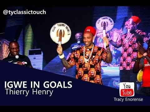 Thierry Henry in Nigeria meet basket mouth,  wizkid, , Taste Jollof Rice, speak pidgin English