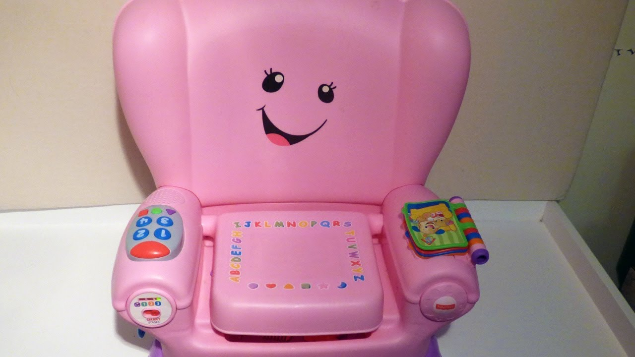 Fisher Price Laugh And Learn Chair Pink Swivel Explanation Smart Stages Youtube