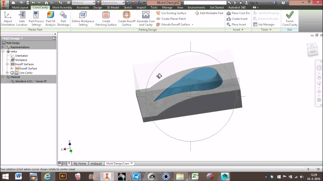 Inventor mold design tutorial pdf