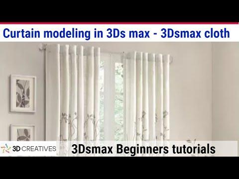 3DSMAX CURTAIN CLOTH TUTORIAL//CLOTH SIMULATION