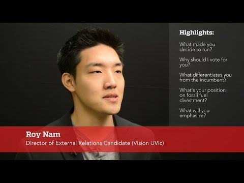 Roy Nam, Director of External Relations Candidate (Vision UVic)