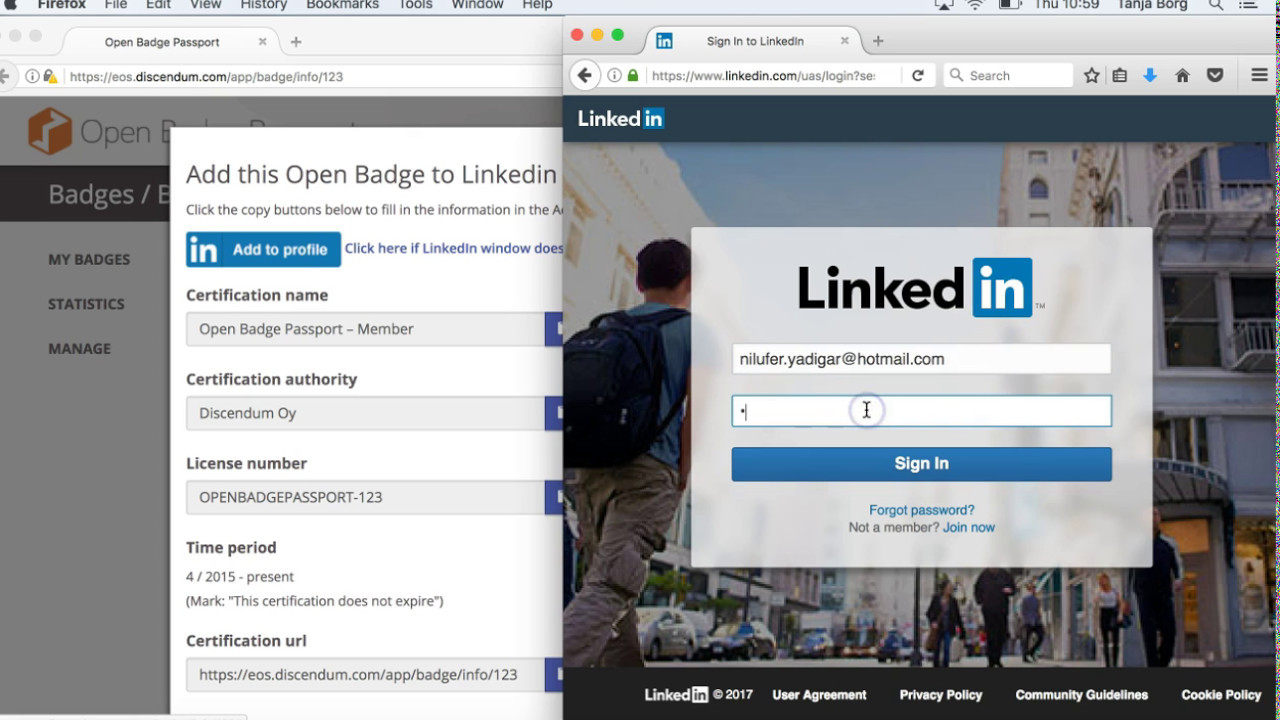 Share Your Open Badges To Your Linkedin Profile Youtube