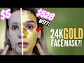 $5 Face Mask Vs. $528 Face Mask (24K REAL GOLD) Is it Worth it?!