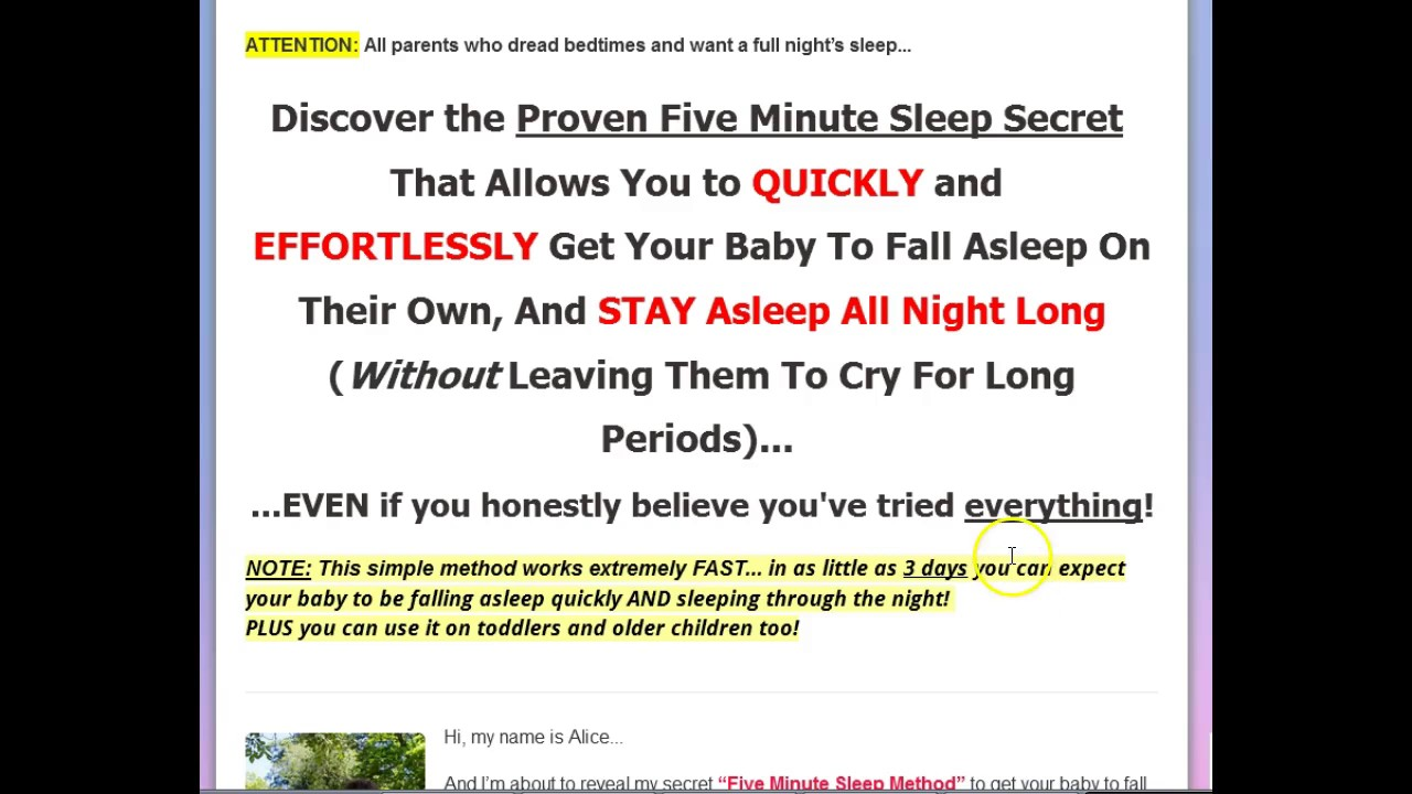 The Five Minute Sleep Method Review  Best Sleep Training For Baby & Toddler