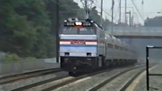 Northeast Corridor Trains - Seabrook MD - July 3 1991
