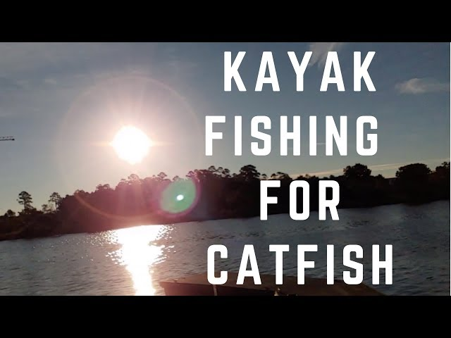 Kayak Catfish on Lake Woodlands