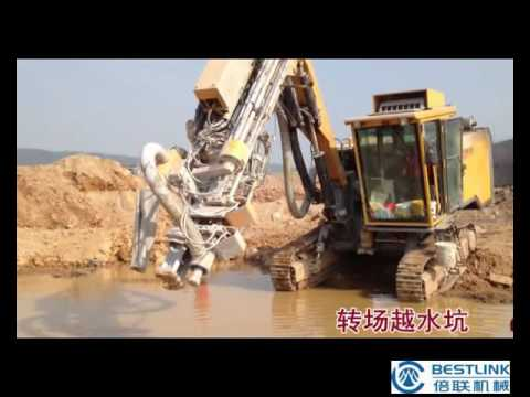 hydraulic drill rig track driller for hole blasting in quarry, mining, water well drilling