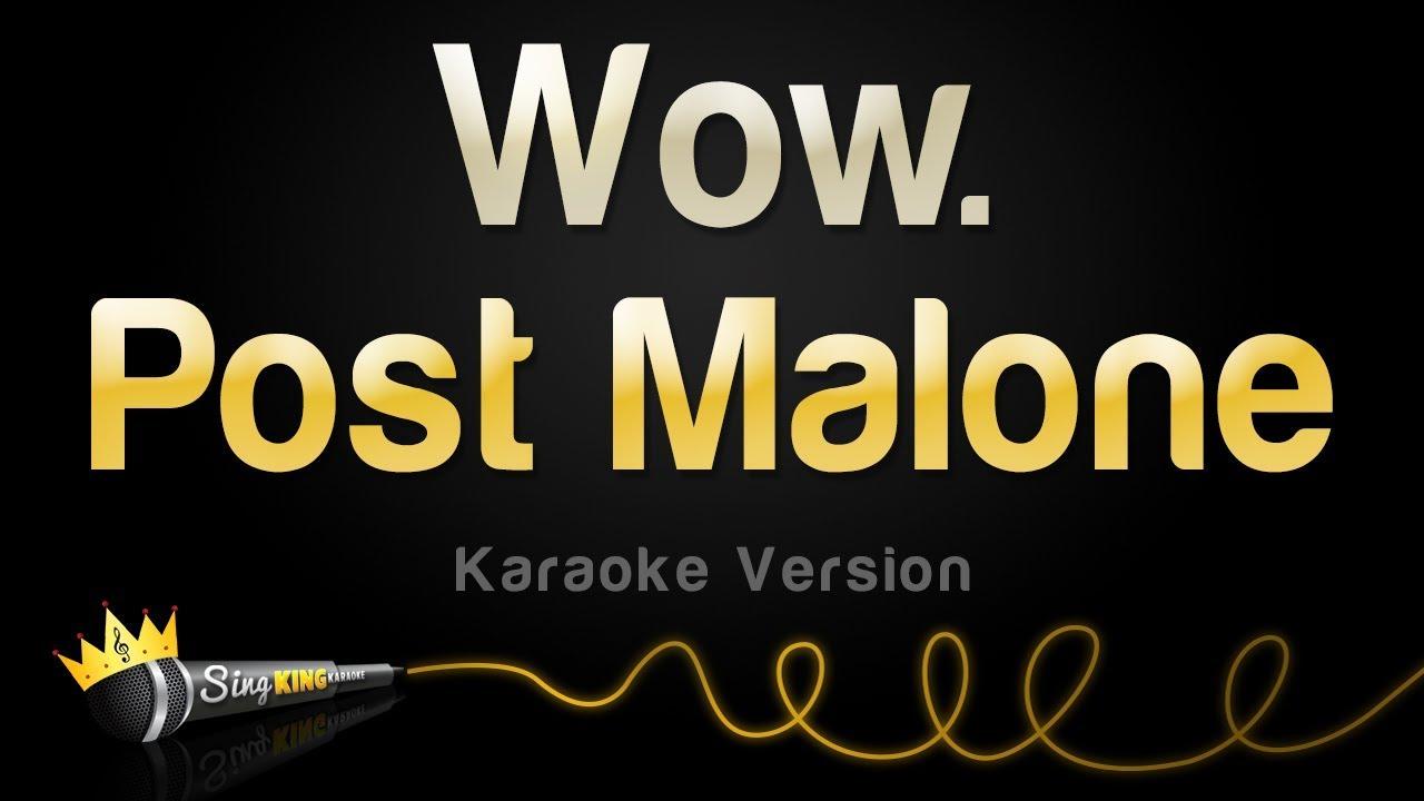 Post Malone - Wow  (Karaoke Version)