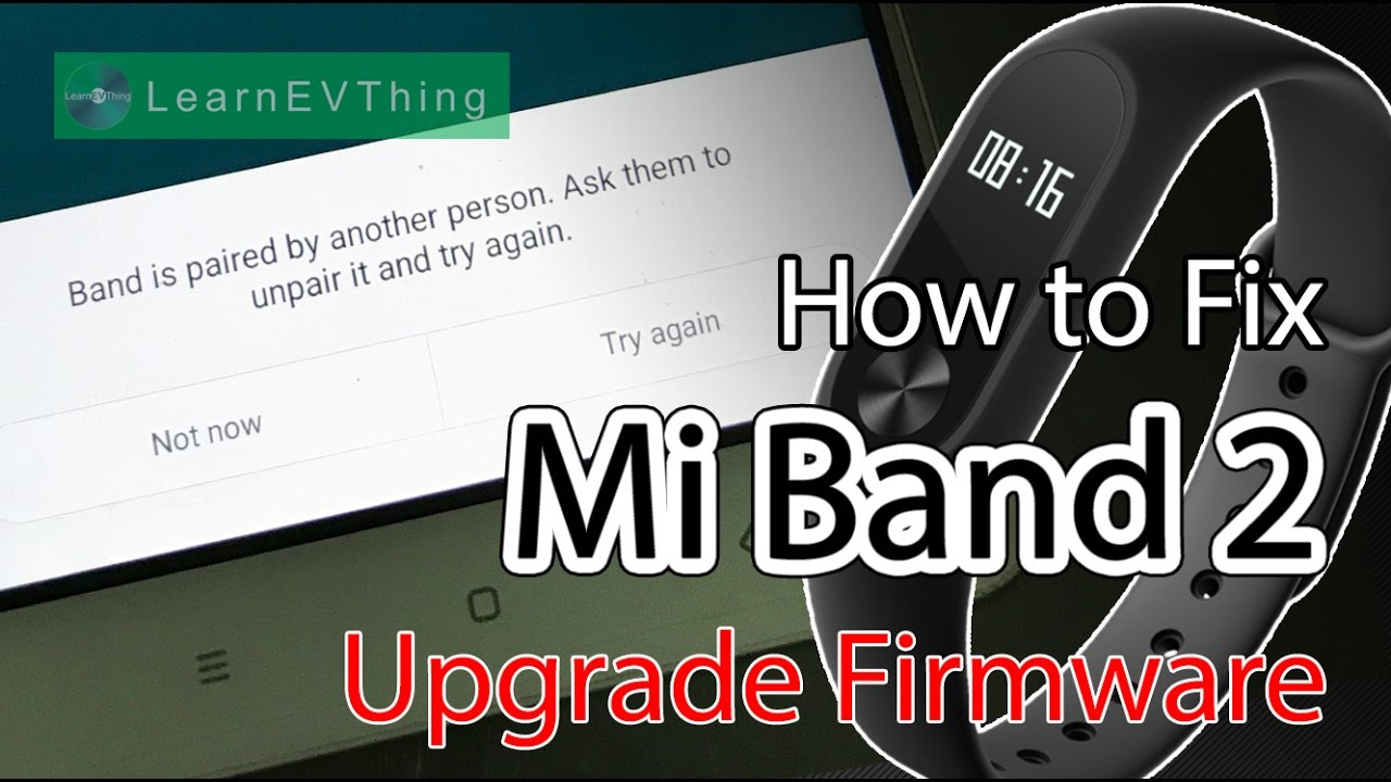 How to - Fix pairing problem in Mi Band 2 | Band is paired by other person
