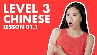Learn Level 3 Chinese HSK 3 Lesson 1.1 - Intermediate Chinese Course Grammar Conversation Vocabulary screenshot 2