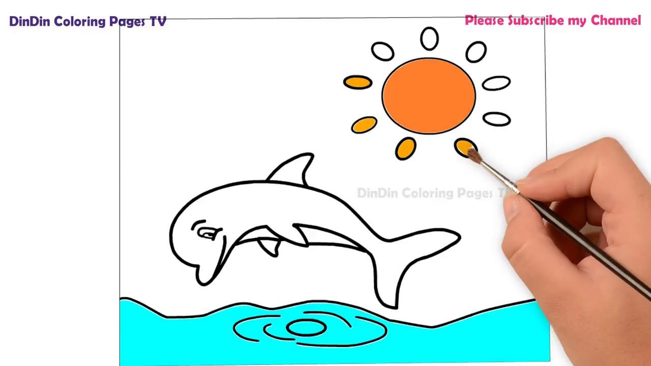 malvorlagen delfin youtube  malvorlagen