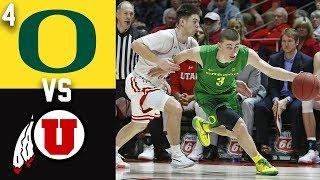 2020 College Basketball #4 Oregon vs Utah Highlights