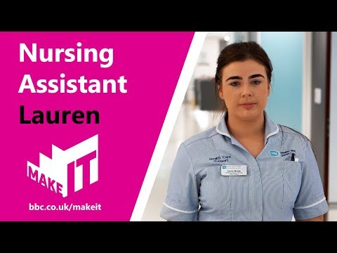 Health and Social Care job profile: Nursing Assistant