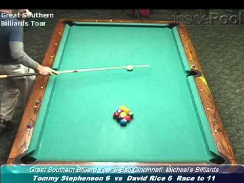 David Rice vs Tommy Stevenson at the Great Southern Billiard Tour