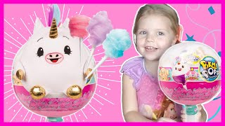 Jumbo Pikmi Pops Surprise Toy Opening with Cotton Candy Unicorn and Blind Bags