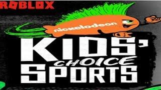 ROBLOX KCS - Kids Choice Sports - Prizes