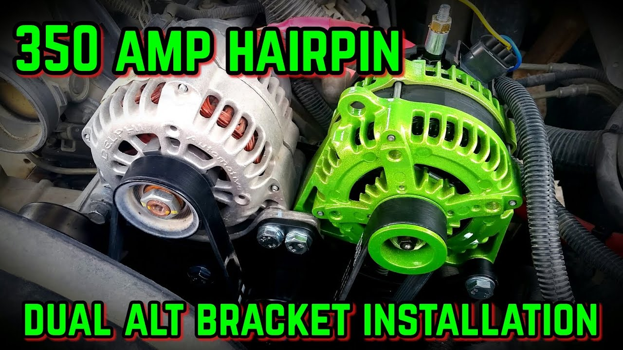 hight resolution of dual alternator bracket installation with 350 amp