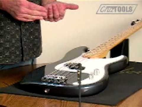 cruztools electric bass setup part 3 action and pickup height youtube. Black Bedroom Furniture Sets. Home Design Ideas