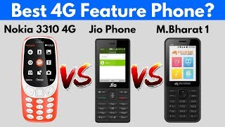 Nokia 3310 4G vs Jio Phone vs Micromax Bharat 1 | Comparison | My Choice