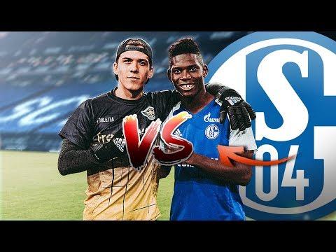 Fußball Challenge gegen SCHALKE PROFI im STADION (ft. EMBOLO)