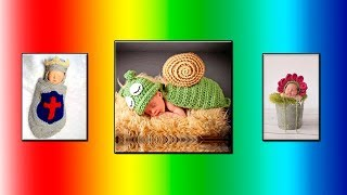 Модели вязания  Вязаные идеи для фотосессии малыша.#2