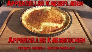 Appenzeller - Käsefladen / Käsekuchen im Rauch veredelt aus dem Monolith