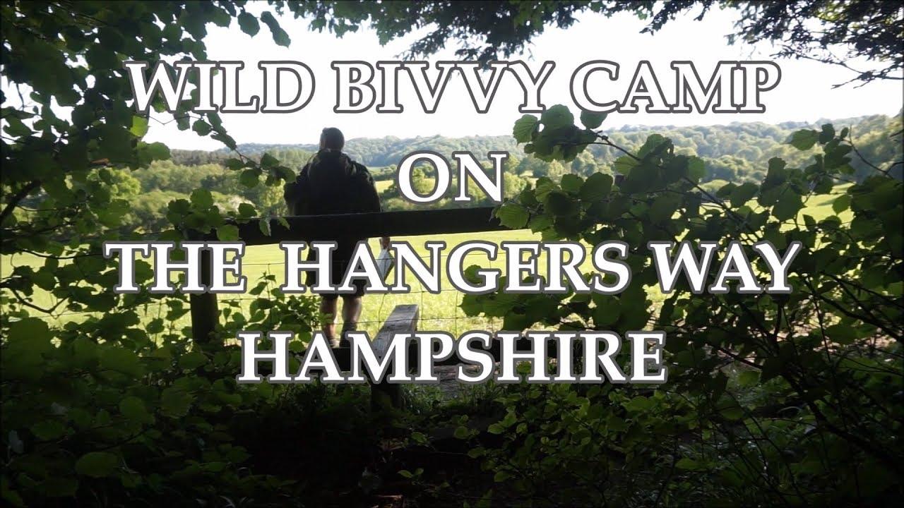 Wild Bivvy & Tarp Camping on THE HANGERS WAY  Hampshire