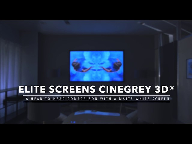 Elite Screens' CineGrey 3D® Ceiling & Ambient Light Rejecting Screen Material vs. Matte White
