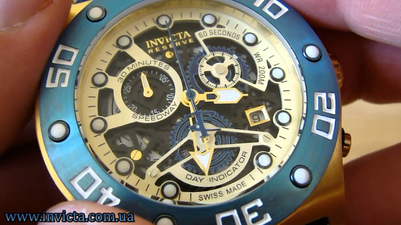 Invicta 17673 Speedway Swiss Made Chronograph - YouTube eab77642bf6