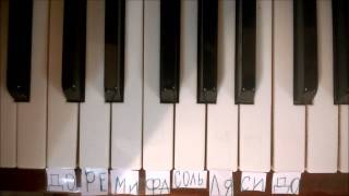 """Фортепиано для первоклашек. Мелодия из м/ф """"Маша и Медведь"""""""