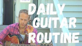 Guitar Practice Routine | Am Pentatonic scale | 20 min Guitar Practice
