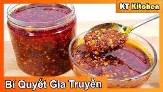ỚT SA TẾ  - Chia Sẽ Bí Quyết Làm SA TẾ TỎI SẢ ỚT Đơn Giản Thơm Ngon|  Chili Sauce Recipe | KT Food