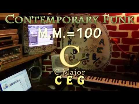 c major - one chord jamtrack - contemporary funk m.m. = 100