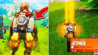 """*NEW* JETPACK Fortnite GAMEPLAY! - NEW LEGENDARY """"JETPACK"""" ITEM UPDATE! - Fortnite Battle Royale"""