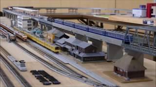 【鉄道模型PV】 守山鉄道同好会 Nゲージ運転会 2019/6/9 Part 4 181系電車、EF81、C57、D51、キハ181系気動車、EF65、DD54、201系電車試作車