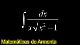 integracion por sustitucion trigonometrica ejemplo 3