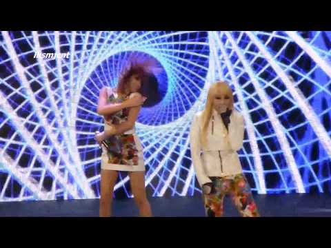 [Fancam] 2NE1 - Fire, Can't Nobody, Talk, and I'm the Best @ SBS Kpop Super Concert Irvine