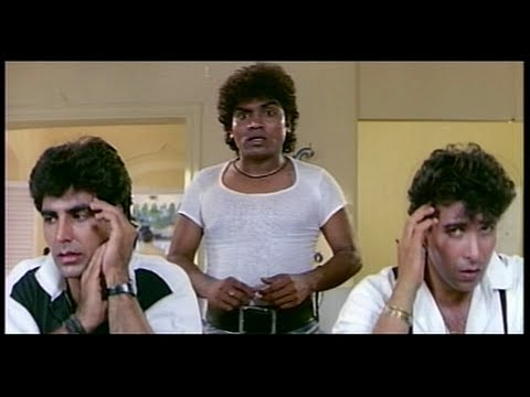 Johnny Lever comes to the Police Station to Meet Shakti Kapoor (Khiladi)