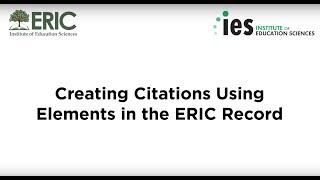 إنشاء الإشارات المرجعية باستخدام العناصر في سجل إيريك