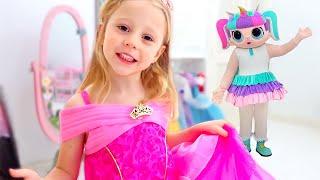 Nastya pergi ke pesta untuk anak perempuan