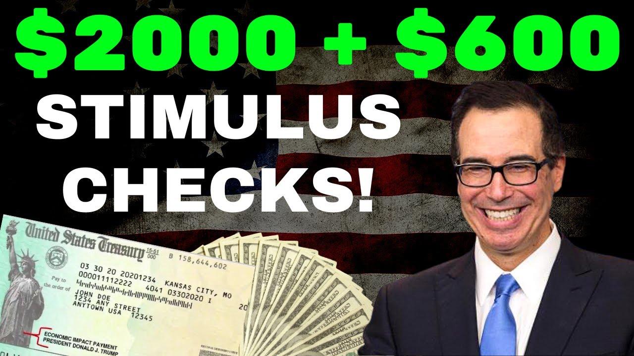 Download BIG NEWS! $2000 $1,400 Third Stimulus Check Update + $600 Second Stimulus Check Update January 16th