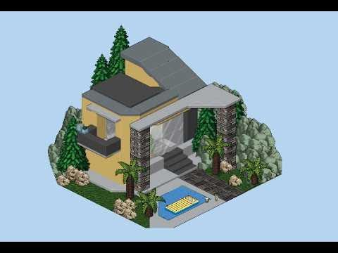 Habbo mini casa exterior moderna youtube for Casas en habbo