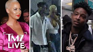 Amber Rose and 21 Savage Hanging Out | TMZ Live