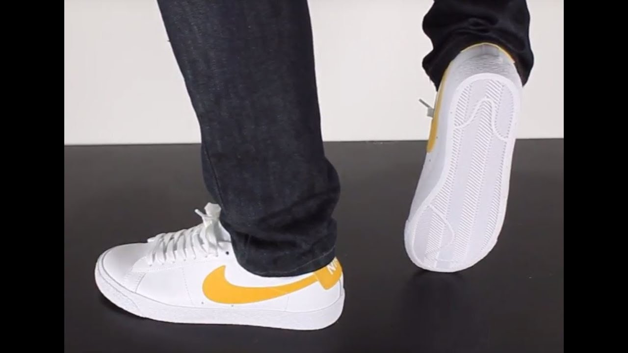 875a4be59d260 NIKE SB BLAZER LOW white mineral gold - YouTube