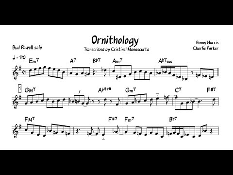 Bud Powell - Ornithology (transcription) mp3