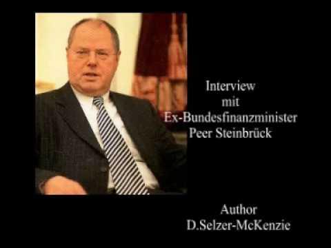 Ex-Bundesfinanzminister Steinbrück im Interview mit Selzer-McKenzie SelMcKenzie