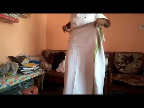 How to wear south indian dhoti style