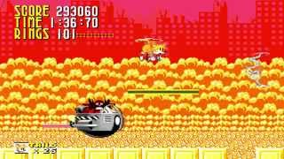 Sonic 1 Megamix V4: City Outskirts Zone (Super Tails at Act 3, 720p/60fps)