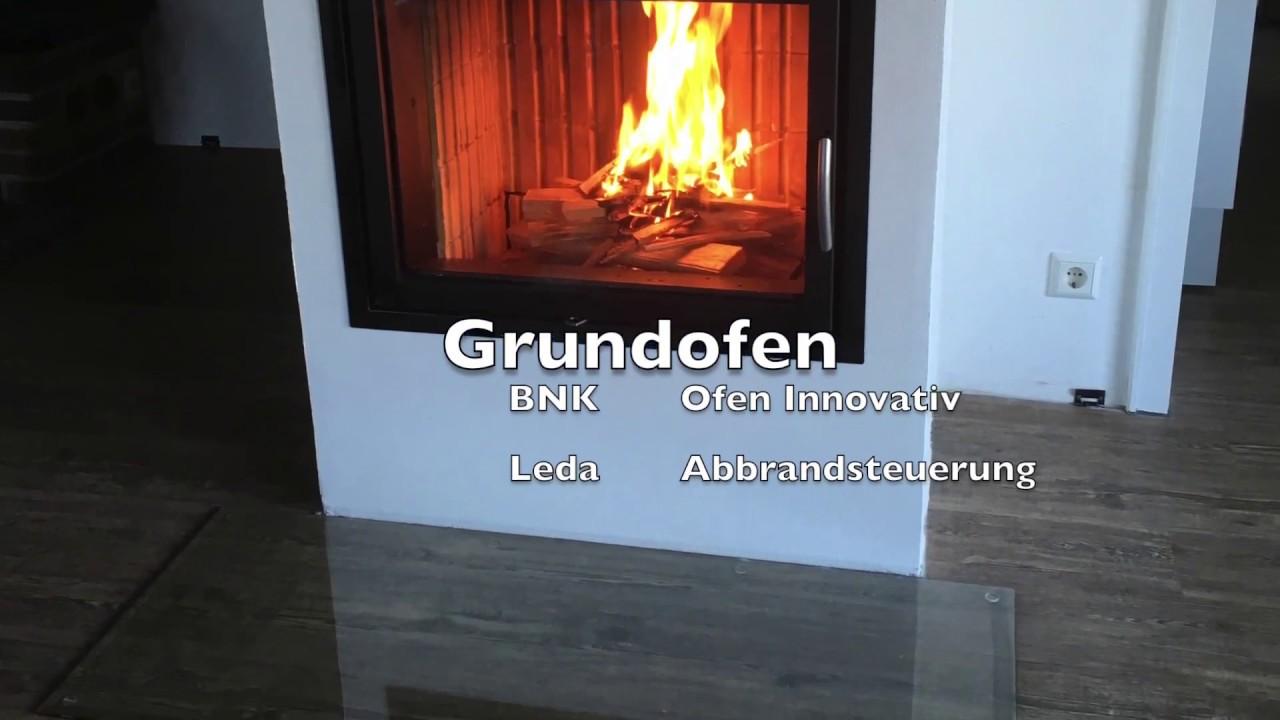 ofen innovativ mit einer leda abbrandsteuerung grundofen youtube. Black Bedroom Furniture Sets. Home Design Ideas