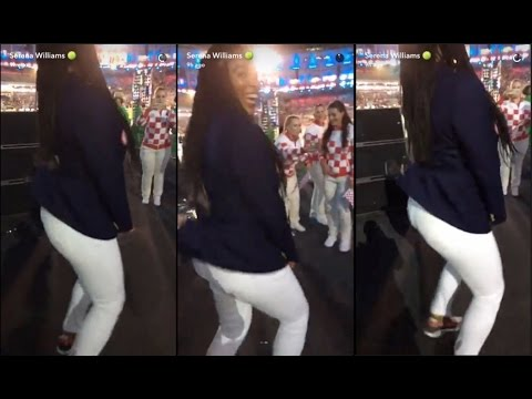 Serena Wiliams Snapchat | Serena Williams TWERKS during the Opening Ceremony at 2016 Rio Olympics